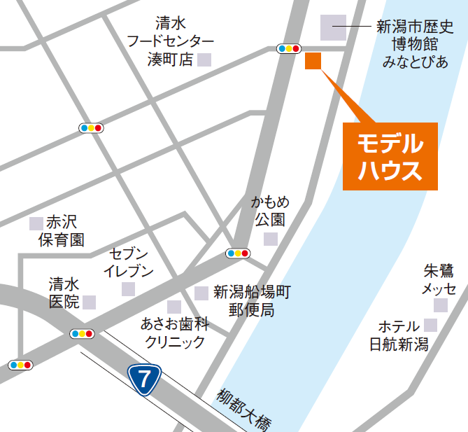 モデルハウス地図